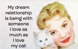 My Dream Relationship Is Being With Someone I Love... Cat funny fridge magnet (ep)